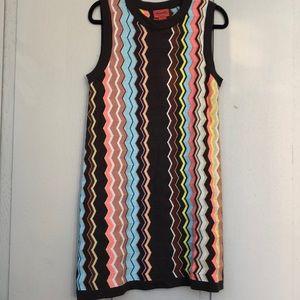 Missoni Knit Zig Zag Pattern Mini Dress